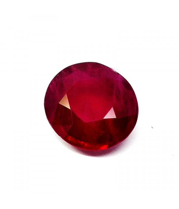 Rubi talla oval redondeada - 2,10 cts
