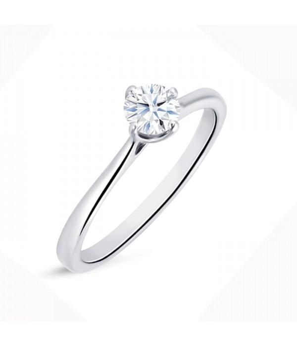 """Solitario """"Ikeda S"""" Oro 18K con diamante 0.30 cts"""