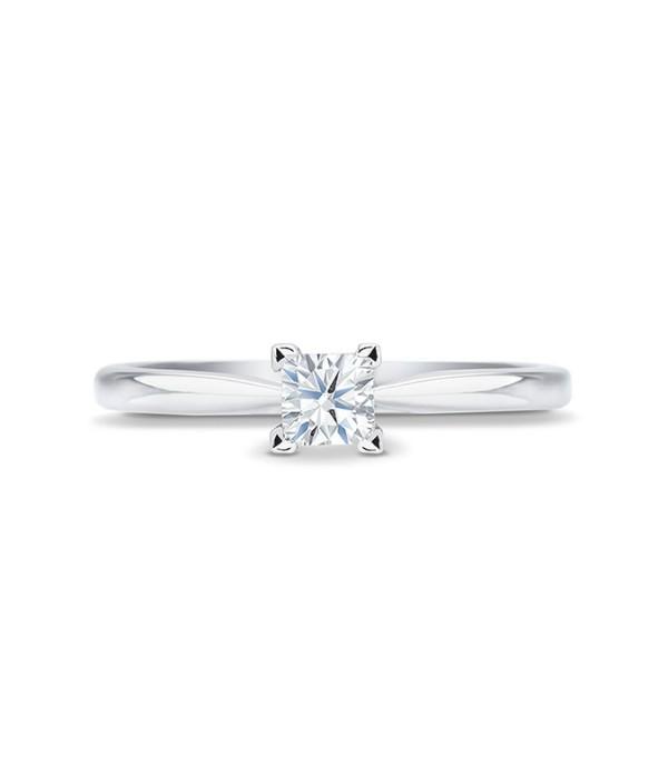"""Anillo """"Surya"""" 0.15 cts. oro blanco 18 k y diamante"""