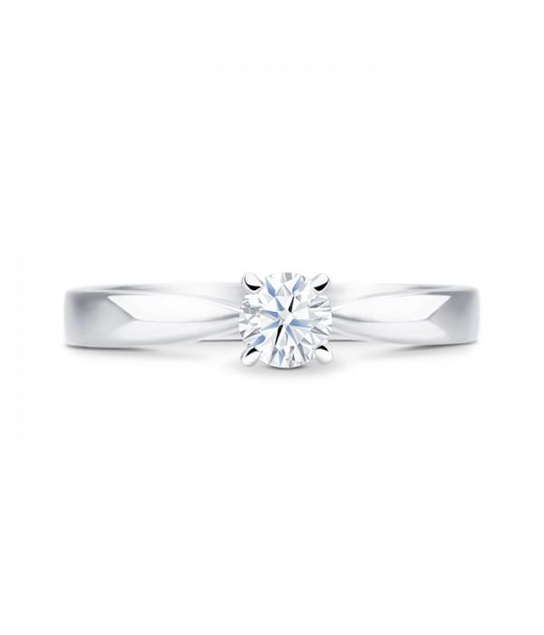"""Anillo clásico """"Yume S"""" en oro blanco con diamante de 0.30 cts"""