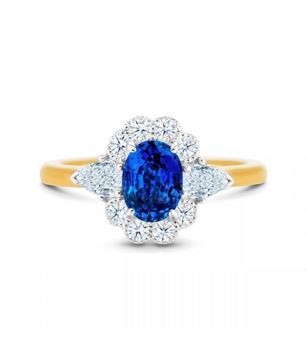 Sortija Zafiro orla Diamantes BLUE VINTAGE SRC 37 ZAF