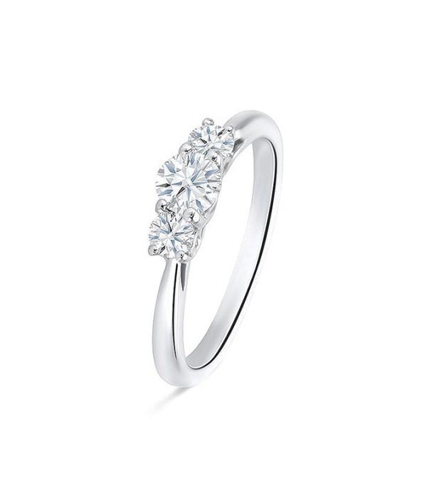 """Tresillo """"TetuanGold"""" oro blanco 18k y diamantes"""