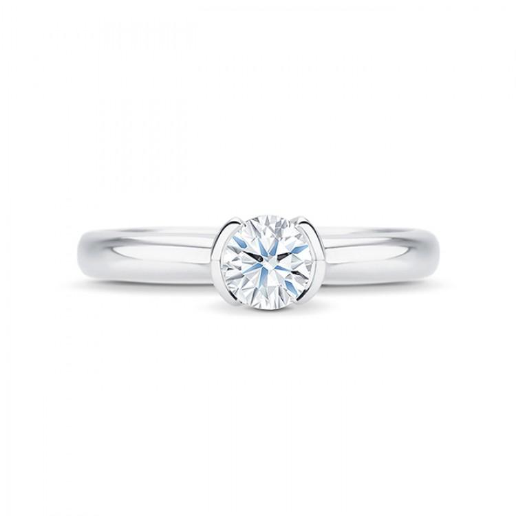 "Anillo "" Antique"" solitario oro blanco diamante 0,40 cts"