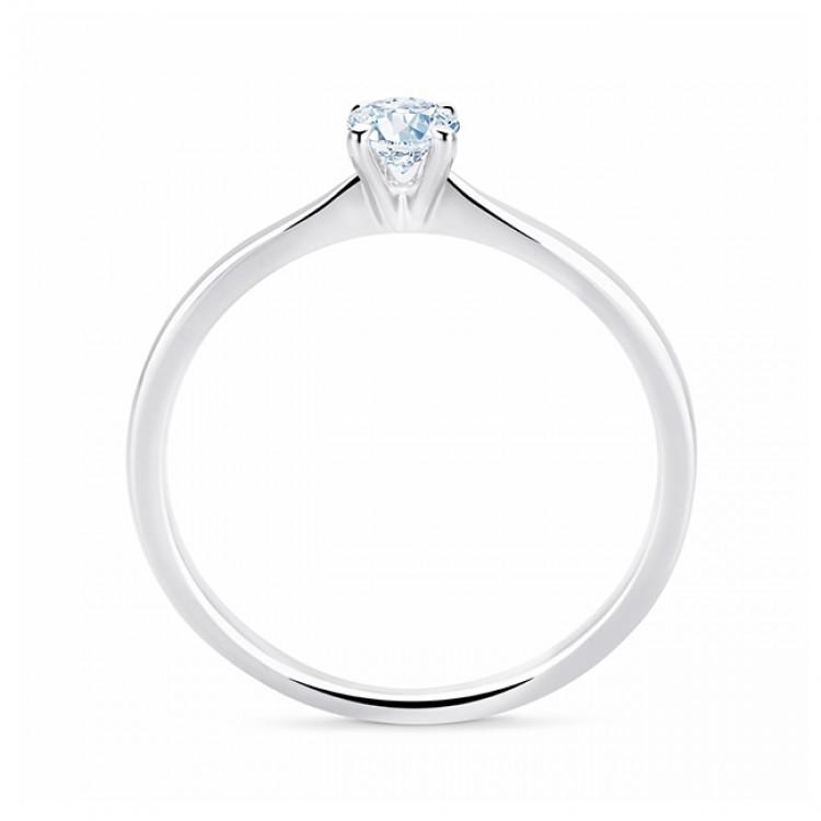 """Sortija con diamante engastado en 4 garras estilo clásico y original """"Praia"""""""