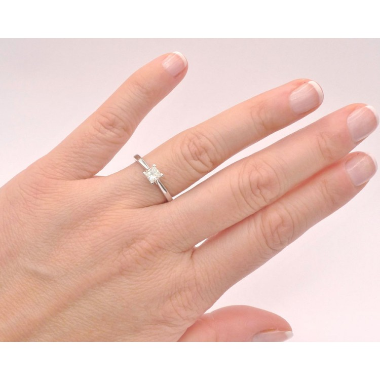 Anillo Diamante Corte Princesa - SR 3