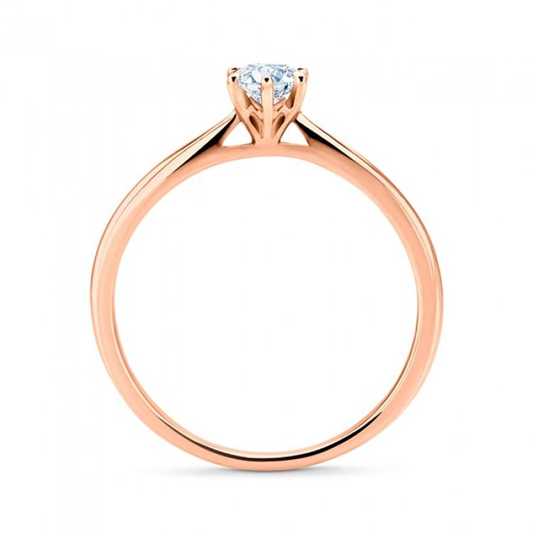 """Solitario """"Milán"""" Clásico de Oro Rosa y Diamante"""