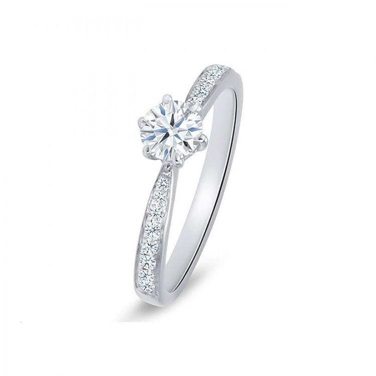 """Anillo """"Florencia""""  0.25 cts. Oro 18k y diamantes"""