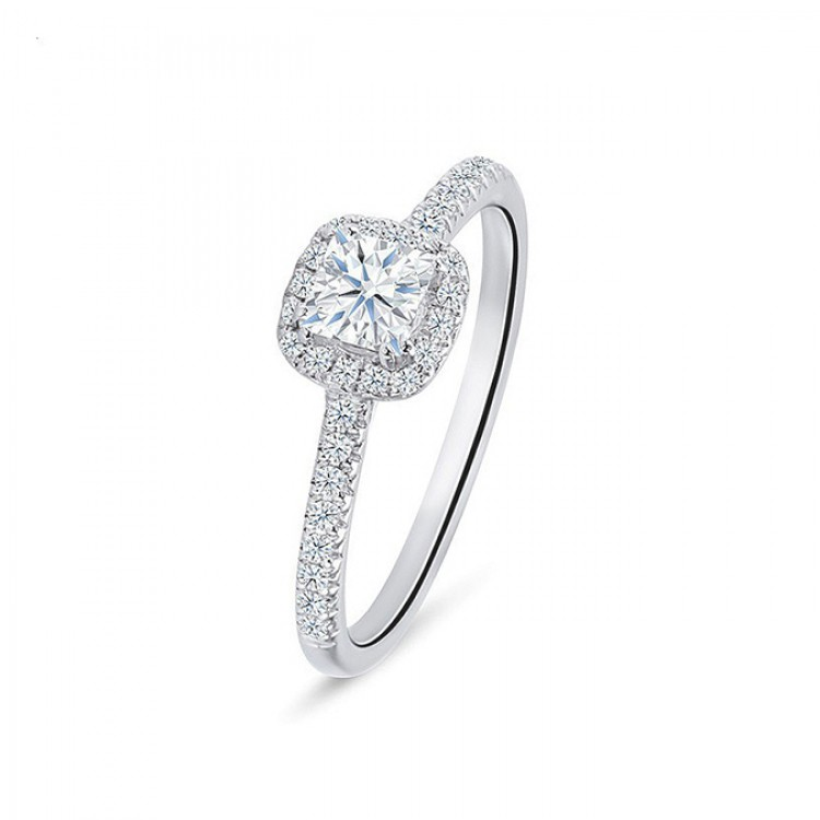 """Anillo """"Kyoto"""" 0.30 cts. oro blanco y diamantes"""