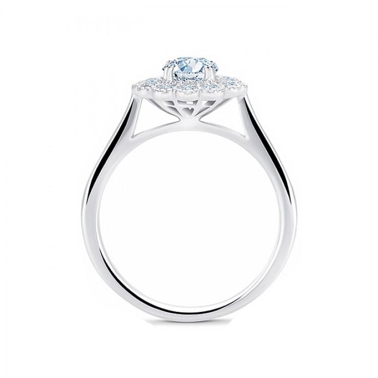 """Anillo """"Luz"""" oro blanco 18k con diamantes"""