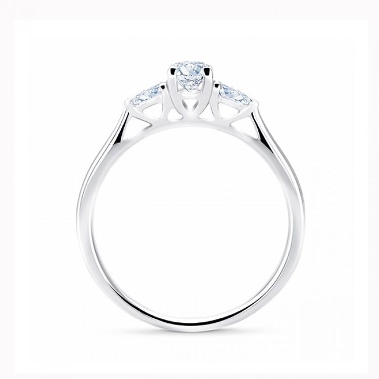 """Anillo """"Masada"""" 3 diamantes oro 18k oro blanco"""