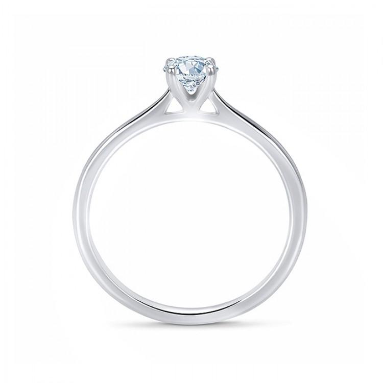"""Anillo """"Pekin"""" 0.10 cts. oro blanco y diamante engastado en 4 garras"""