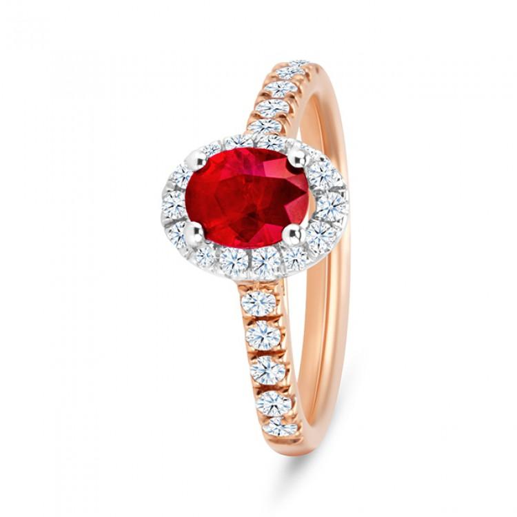 Anillo Rubí Orla Diamantes RED JAMAICA - SR 79 RUBI