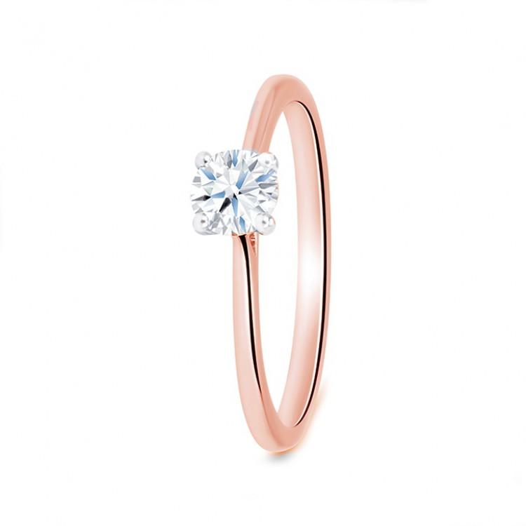 """Anillo Solitario """"RosePekin"""" Oro Rosa y Diamante"""