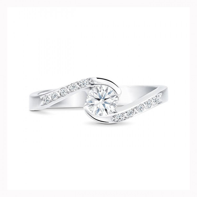 """Anillo """"UmiStyle"""" 0.25 cts. oro blanco y diamantes"""