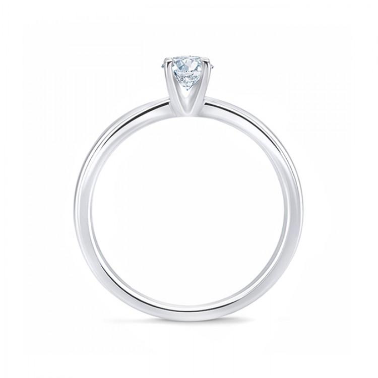 """Anillo """"Wien"""" 0.20 cts. oro 18k diamante clásico"""
