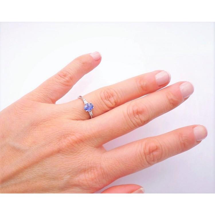Anillo de Compromiso con Zafiro BLUE FLORIDA - SC 298 Z