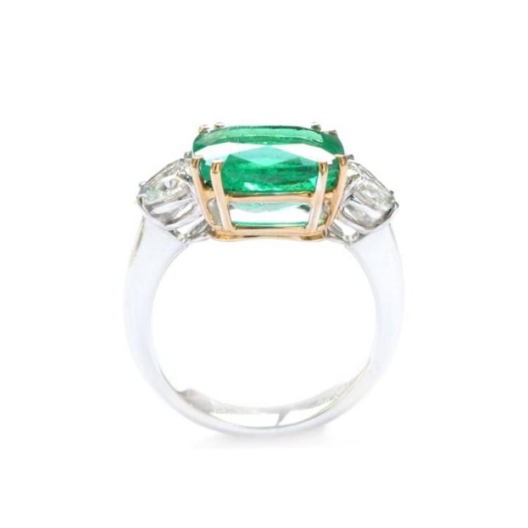 Sortija Esmeralda Diamante Corazón - SI 201