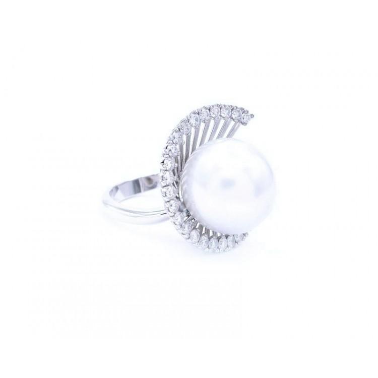 Sortija Perla Brillantes ESPIRAL - SI 88
