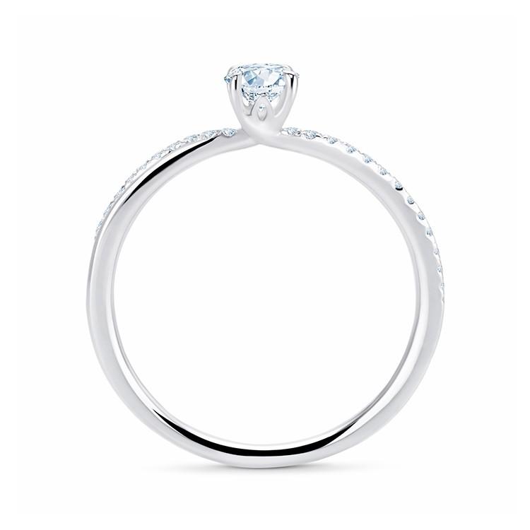 Anillo de Oro Blanco con Diamante NASHIRA - SR 63