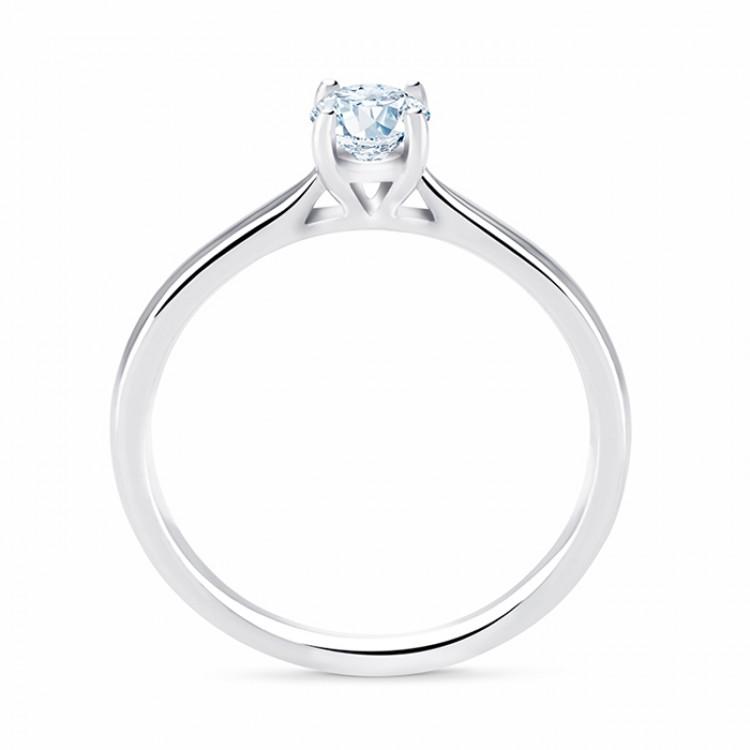Anillo de Pedida Platino y Diamante 950