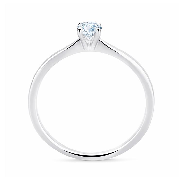 Anillo Diamante Talla Brillante Oro Blanco