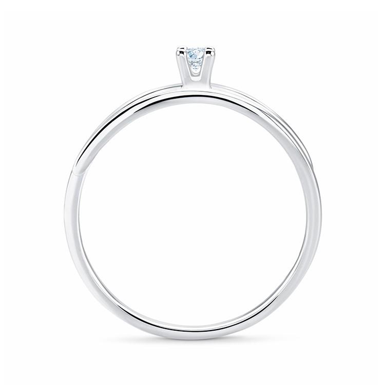 Anillo solitario oro blanco diamante FEZ - SV8