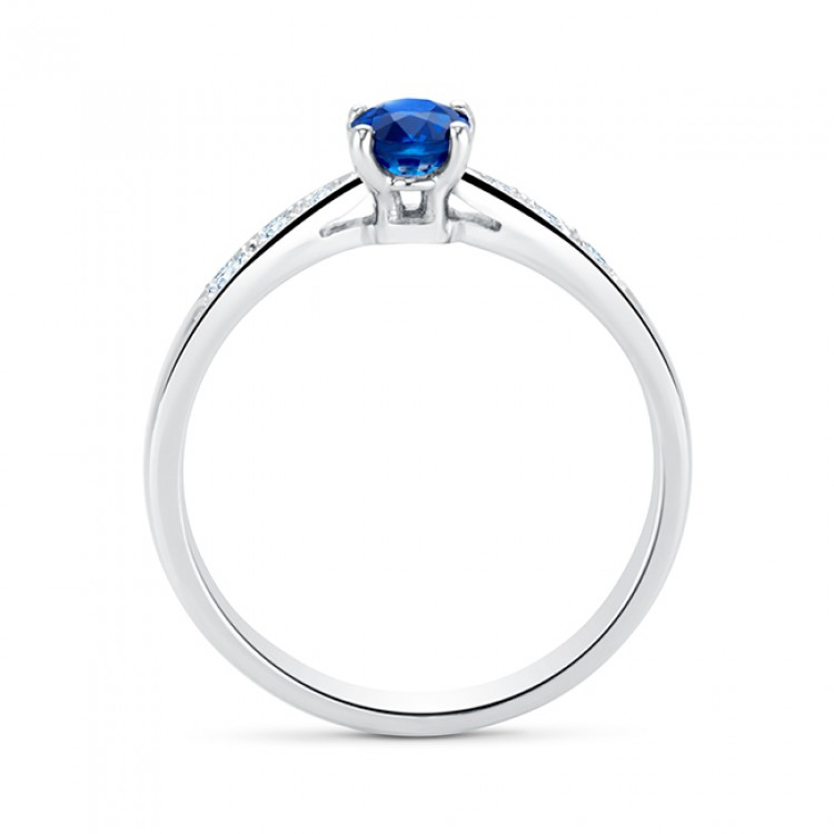 Anillo zafiro Azul Oval con Brillantes HIGASHI - SK 4 ZAF