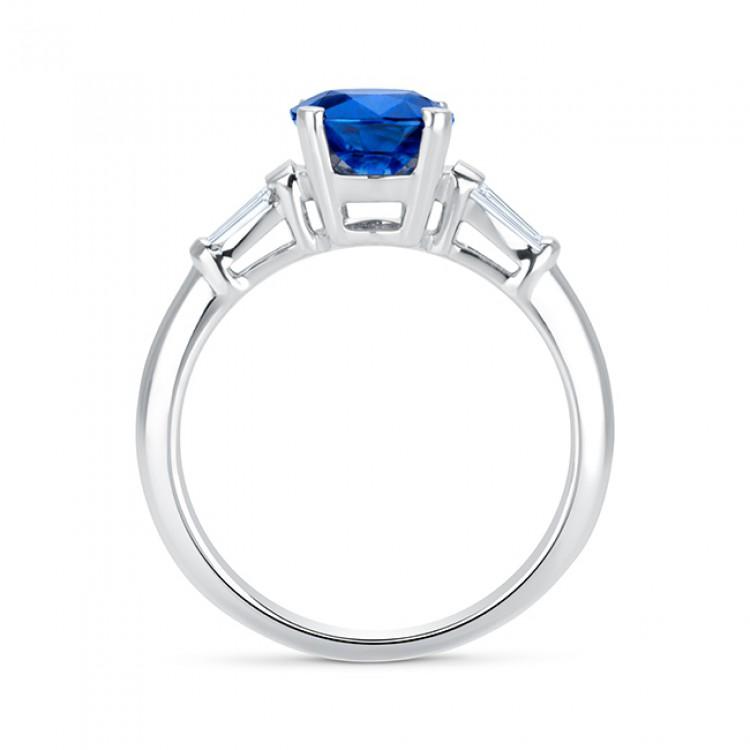 Anillo Zafiro y diamantes oro blanco - SR97Z