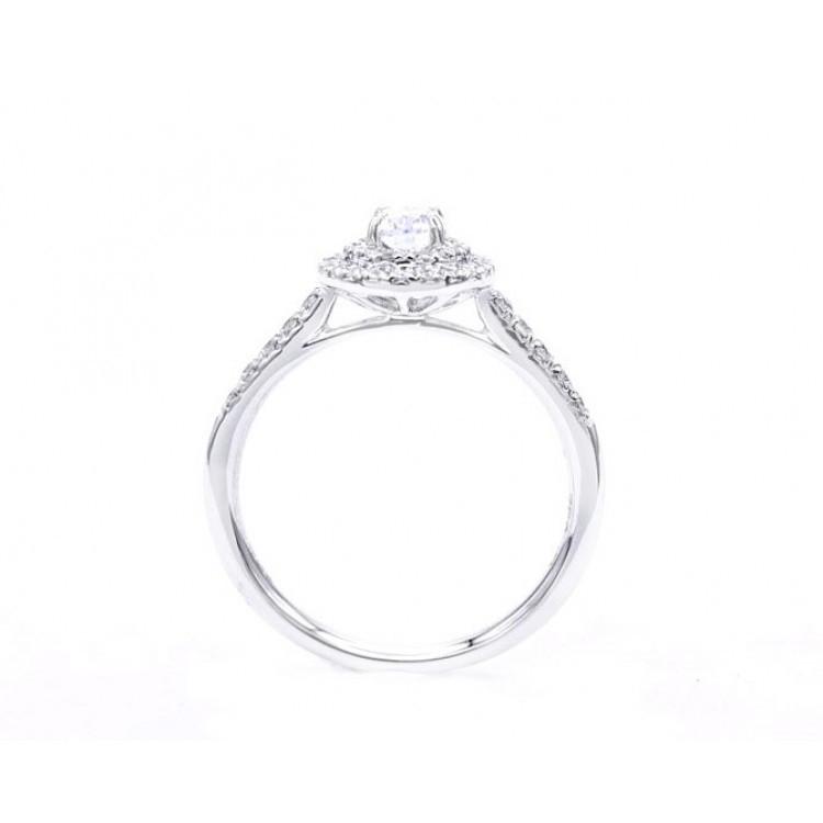 """Sortija Diamante Oval """" Sakura"""" - SR 7"""