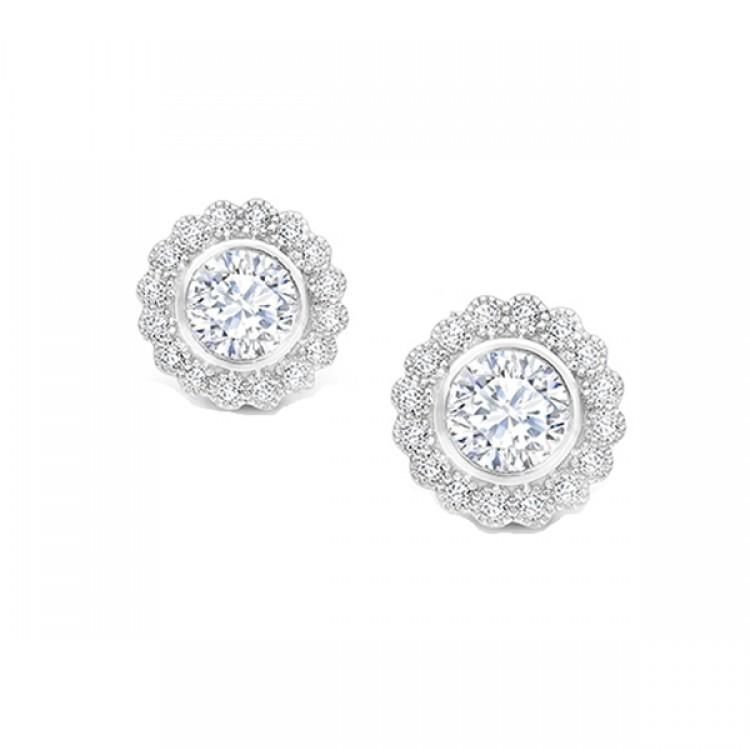 """Pendientes cortos con Diamantes """"Alhambra"""" -  PR 13"""
