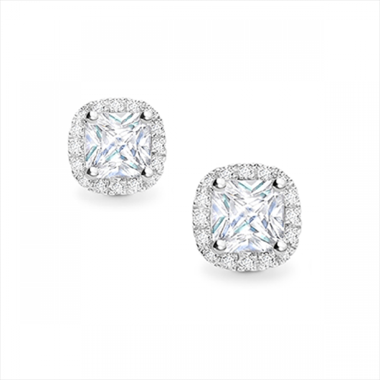 Pendientes Diamante Princesa Orla round - PR 3