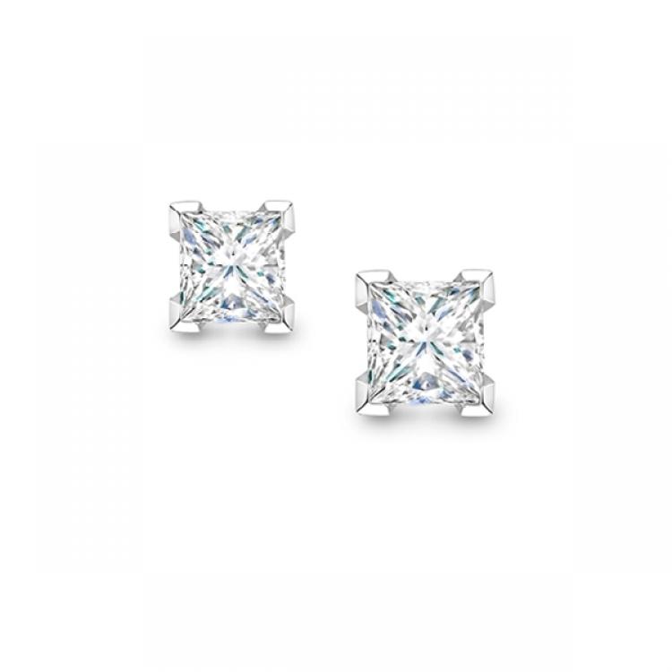 Pendientes Surya de Diamantes talla Princesa - PR 24