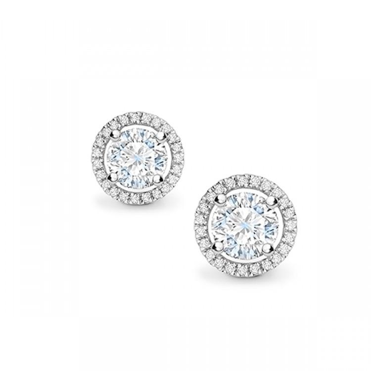 """Pendientes con Orla de Diamantes """"SKY""""- PR 1"""