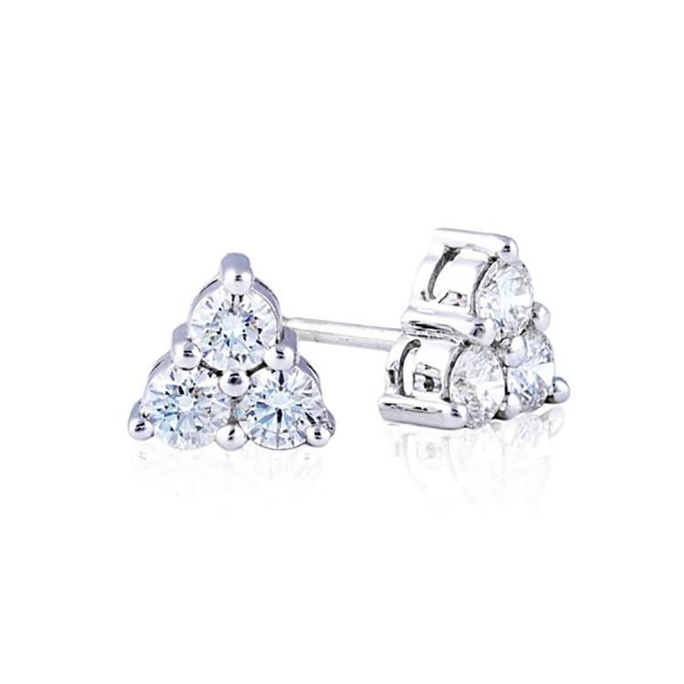 Pendientes 3 Diamantes Triangle - PG 34