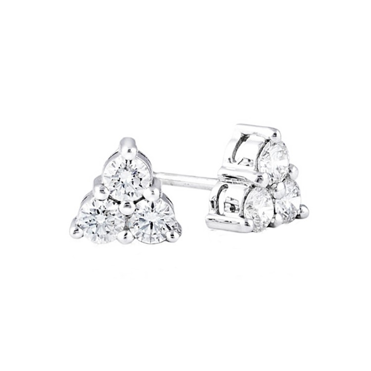 Pendientes 3 Diamantes Triangle - PG 34