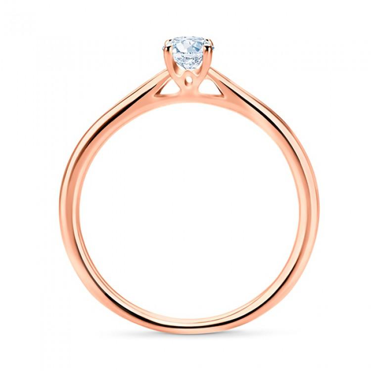 Solitario de Compromiso Oro Rosa y Diamante SRR 57