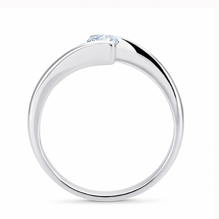 "Solitario ""Eclipse S"" Oro Blanco 18k con Diamante"