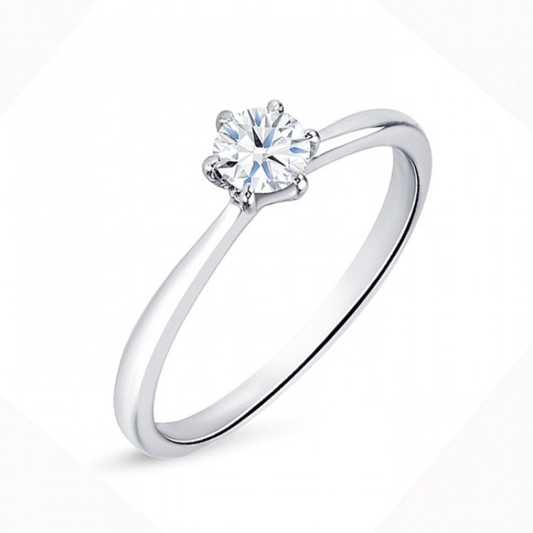 """Anillo """"Florencia S"""" clásico con diamante desde 0.15 cts"""