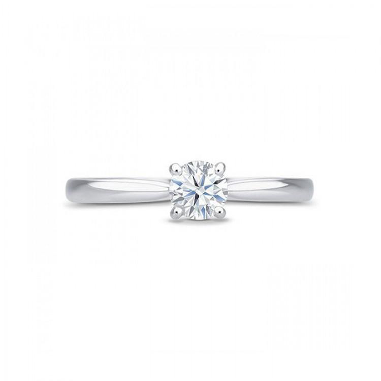 """Solitario """"HarmonyStyle"""" oro blanco con diamante"""