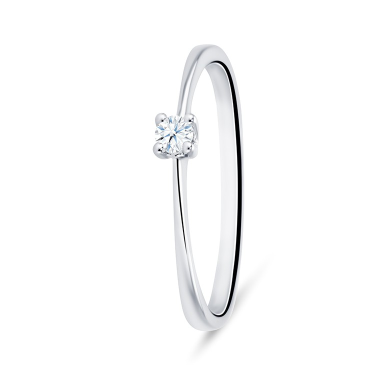 Solitario oro blanco diamante GALICIA - SV3