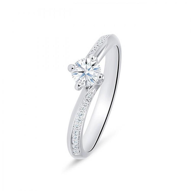 """Sortija """"Arba"""" 0,25 cts. Oro blanco y diamantes"""