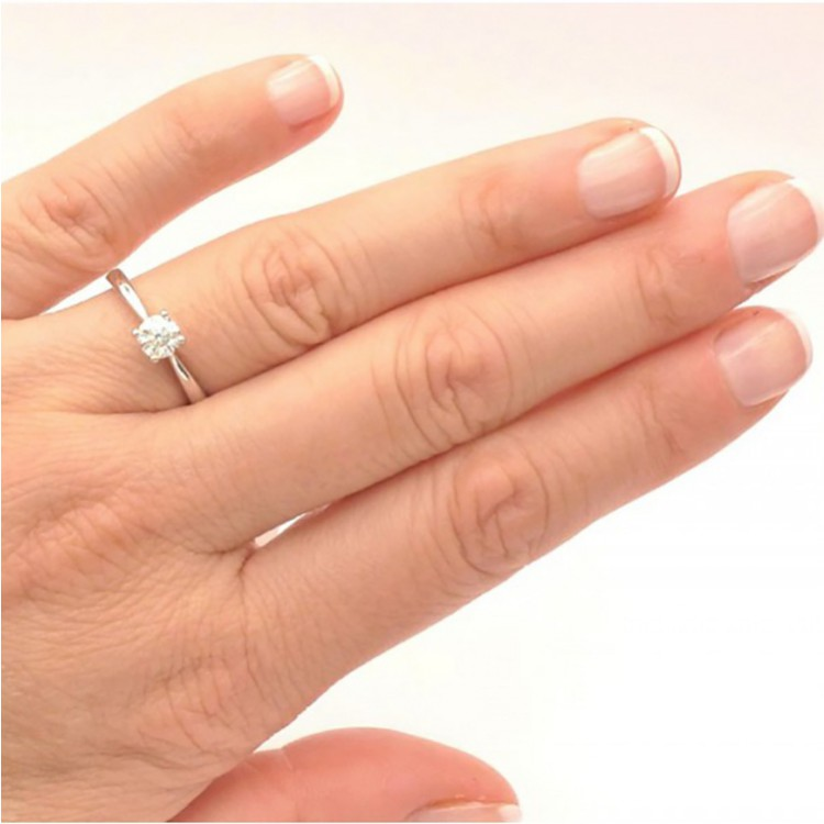 Anillo Diamante Oro Blanco VERONA - SR 20