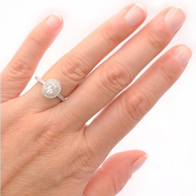 """Sortija """"Sakura"""" oro 18k y diamantes"""