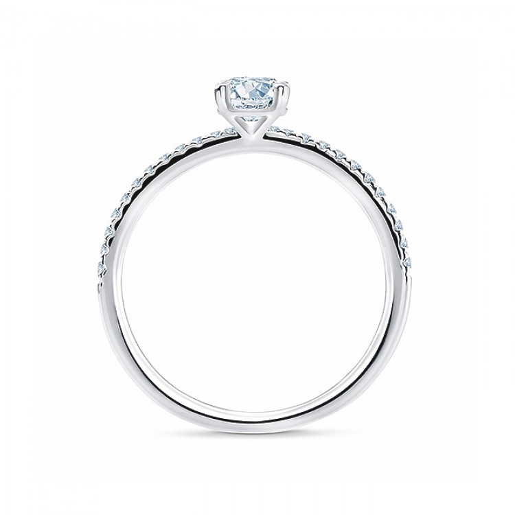 "Anillo ""MinamiStyle"" 0.30 cts. oro blanco y diamantes"