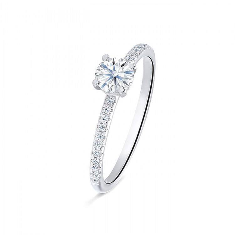 """Anillo """"Minami"""" 0.30 cts oro blanco y diamantes"""