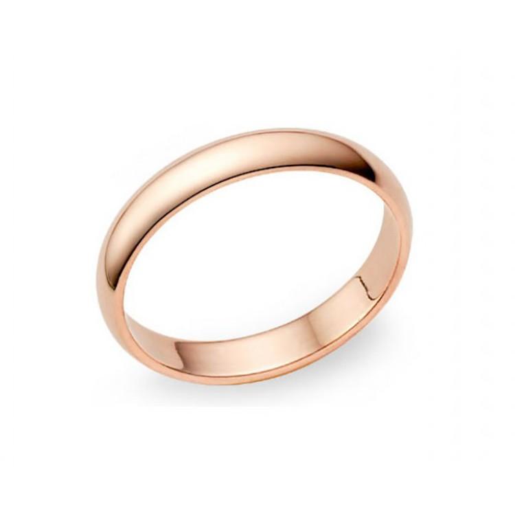 alianza de boda oro rosa 3 milímetros