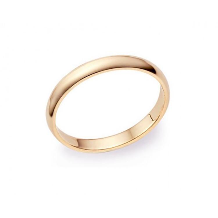alianza de boda oro rosa de 2 milímetros