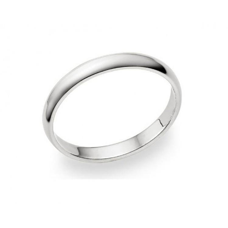 alianza de matrimonio oro blanco 2.5 milímetros