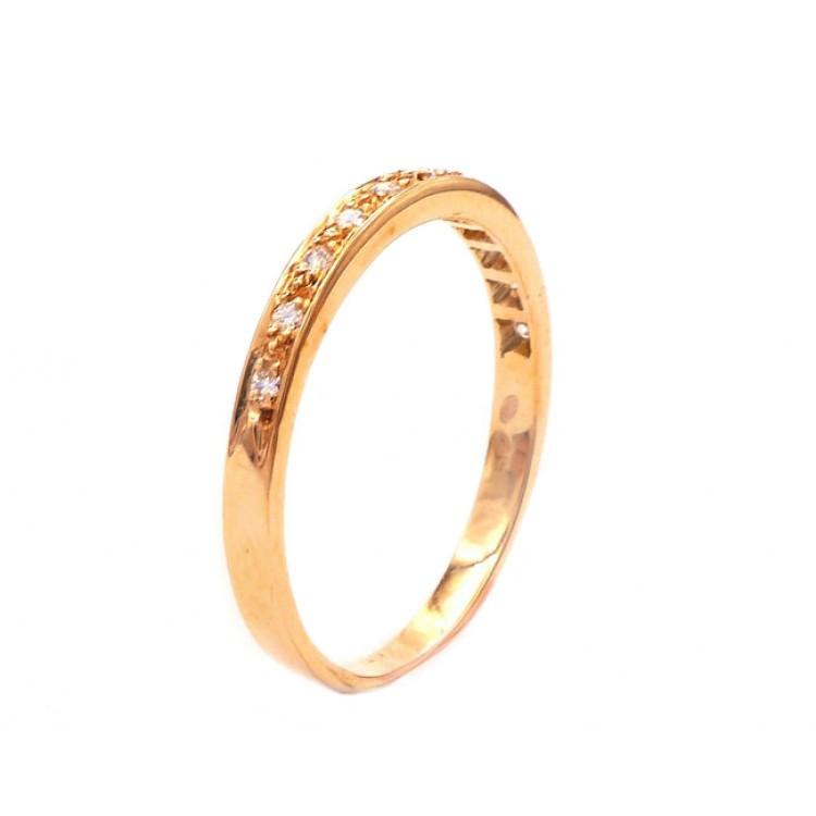 alianzas de boda diamantes oro rosa 2