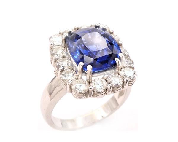 anillos de compromiso pedida de mano zafiro